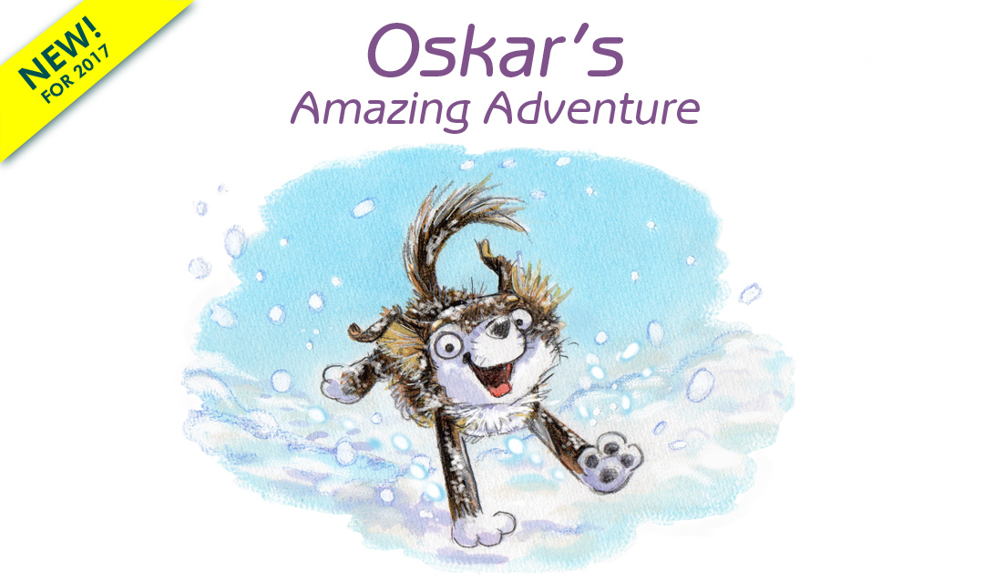 Illustration from the picture book, Oskar and the Little House on Top of the Mountain to be published in 2017
